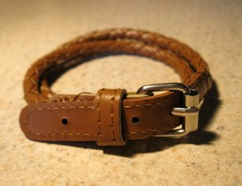 E 820 brown wrap buckle bracelet thumb200