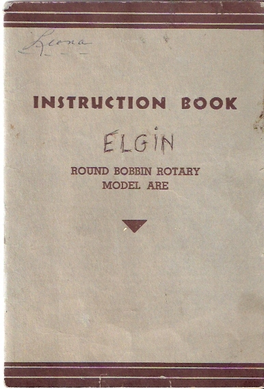 Round Bobbin Rotary Instruction Book Model ARE Elgin & Other Rotary Machines