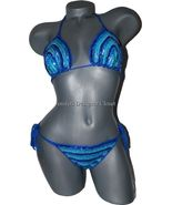 NWT ANNA KOSTUROVA M sequined bikini swimsuit b... - $89.59