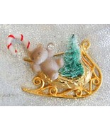 Festive Christmas Sleigh Candy Cane, Tree & Ted... - $12.99