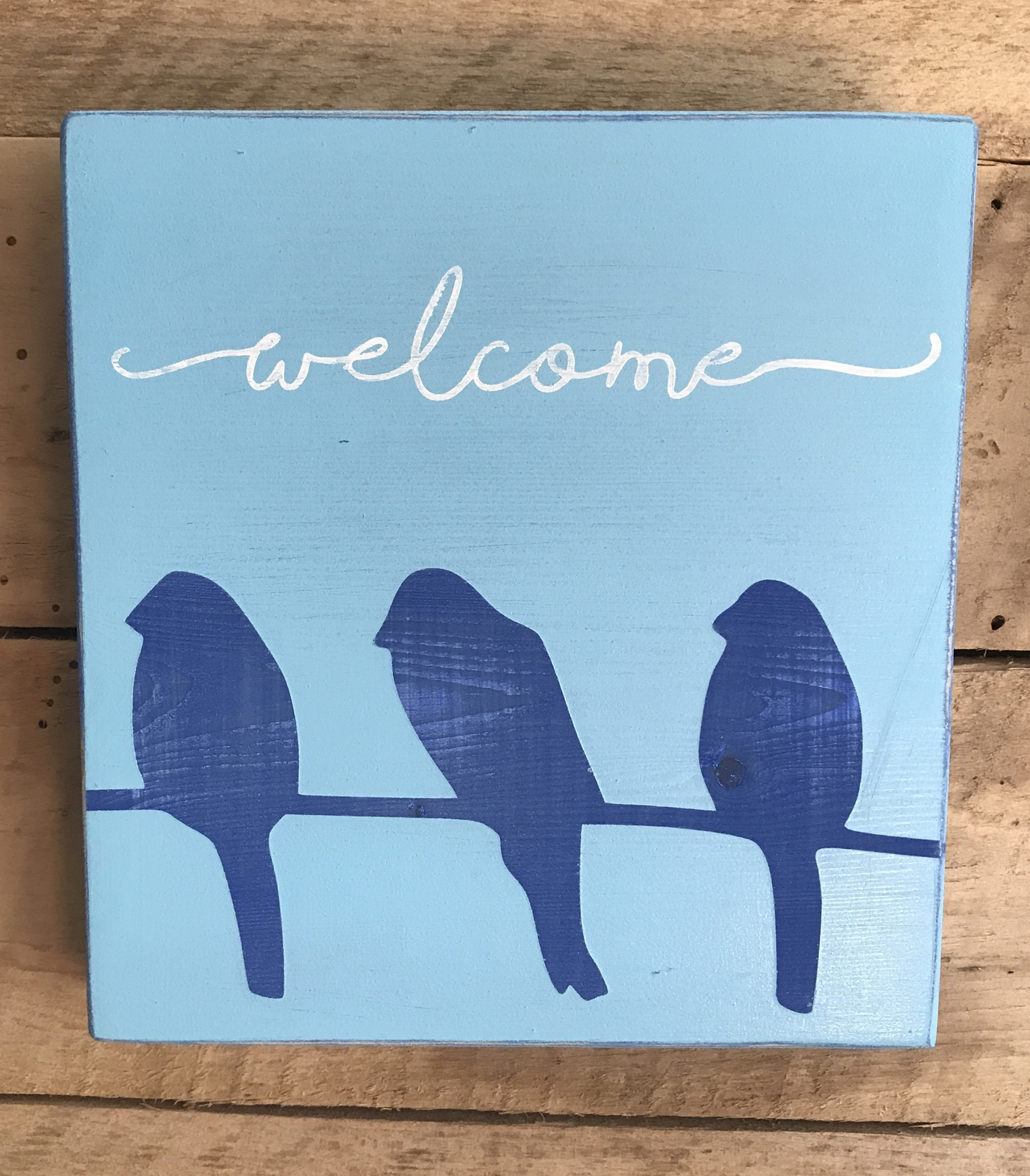 welcome bird handmade wood sign home home decor wall hanging