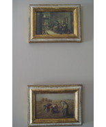 Pair of Vintage Italian Framed Prints with Jean... - $32.40