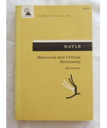 Pierre Bayle: Historical and Critical Dictionary Selections [The Library... - $7.99