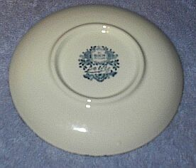 Small Boch Delft Plate Back Stamp with Paper Label