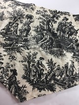 "Waverly Country Life Black Cream Toile French Country 2 Ascot Valances 53"" - $29.69"