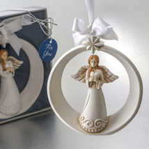 1 Guardian Angel Ornament Wedding Favor Baptism Christening Christmas Cu... - $11.88+