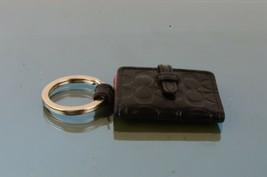 Authentic Coach Black Small Pocket Motif Charm Key Charm Key Ring Access... - $38.61