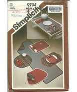 Simplicity Sewing Pattern 9794 Place Mats Table Runner Napkins Used - $9.98