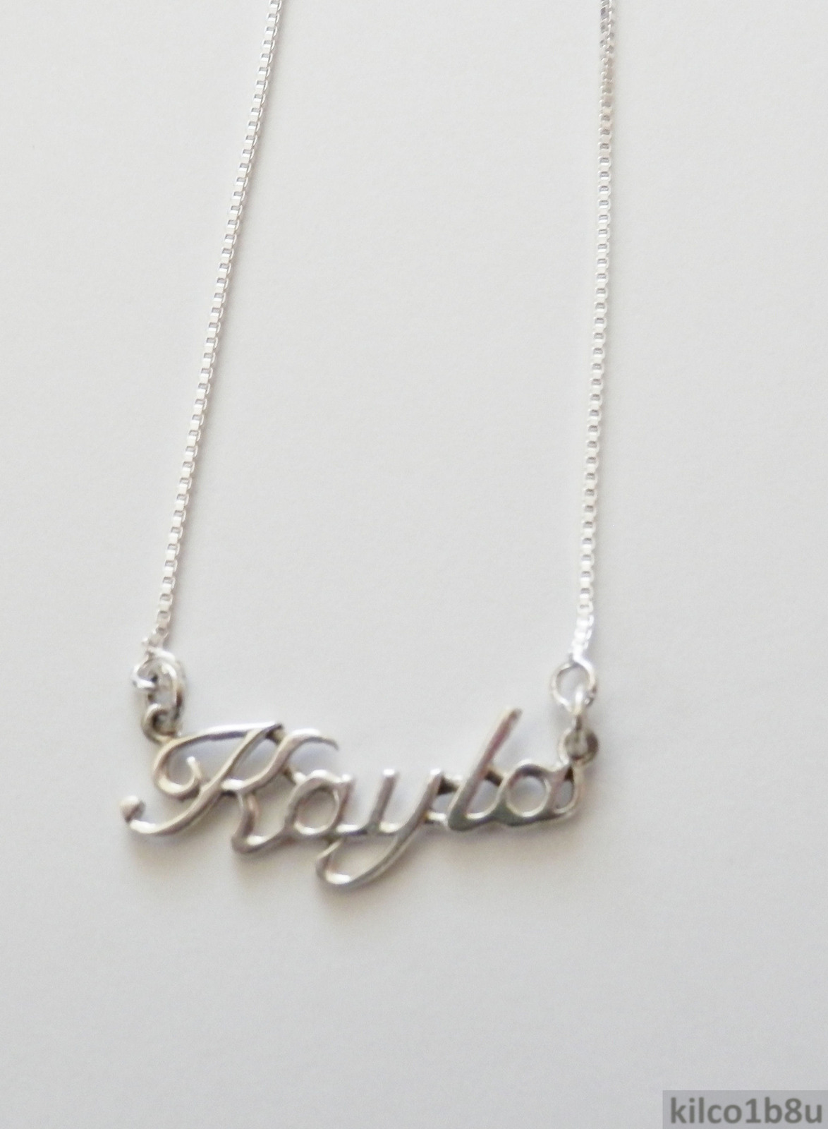 Sterling Silver Name Necklace - Name Plate - KAYLA