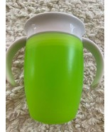 Munchkin Miracle 360 Sippy Cup Green White Handles Trainer - $5.00