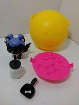 LOL Surprise Pet Series 3 Midnight Pup bat wings black scoop white bottl... - $14.84