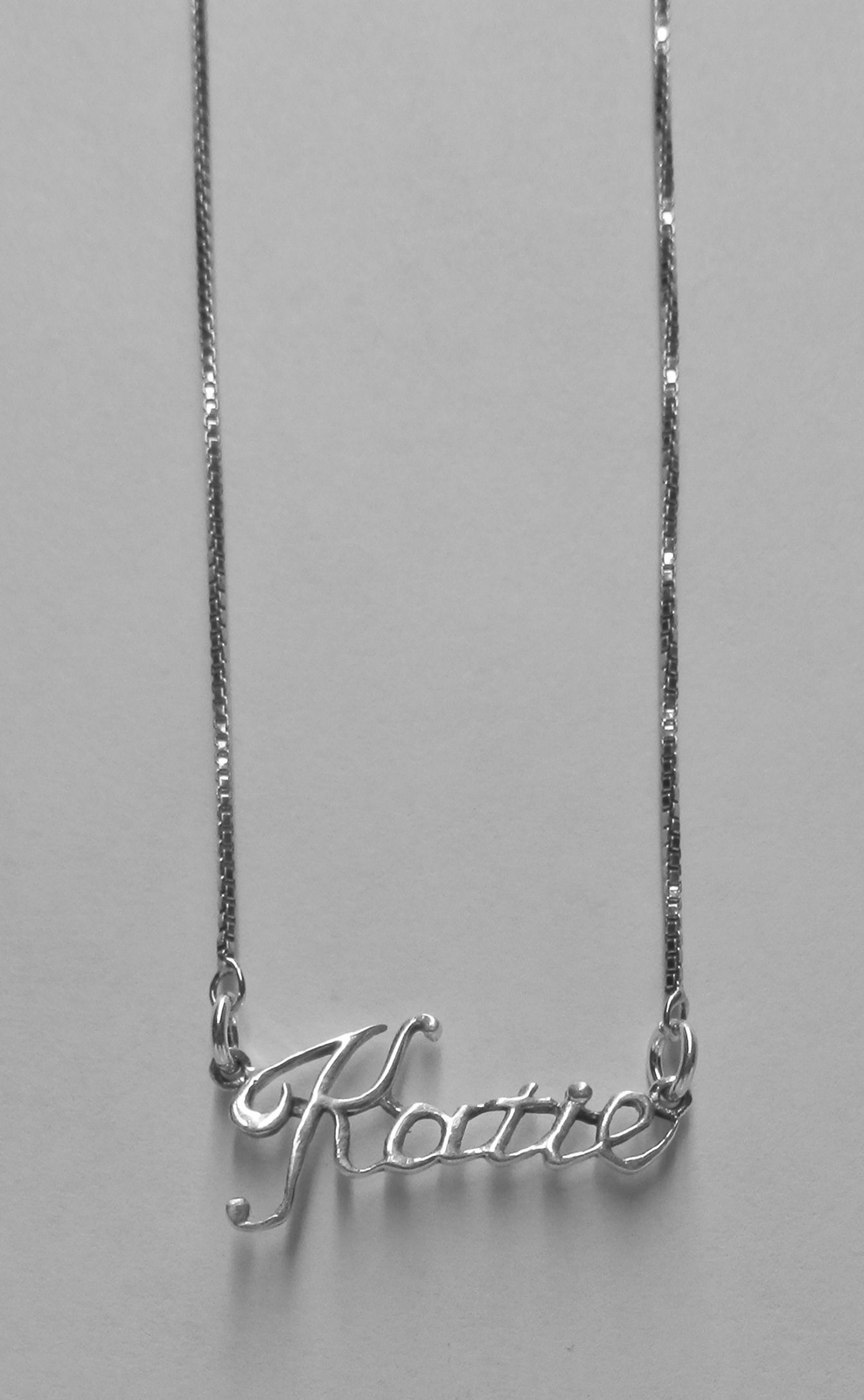 Sterling Silver Name Necklace - Name Plate - KATIE