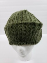 Mixit One Size Wear 2 Ways Olive Beanie Hat For Long Hair Womens E3 - $5.64