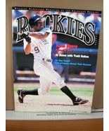 Rockies Scorecard Magazine Vol 9 No 5 August 2001 Juan Pierre - $8.99