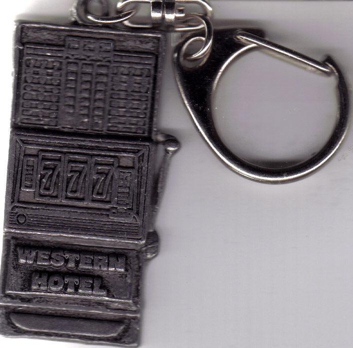Western hotel keychain