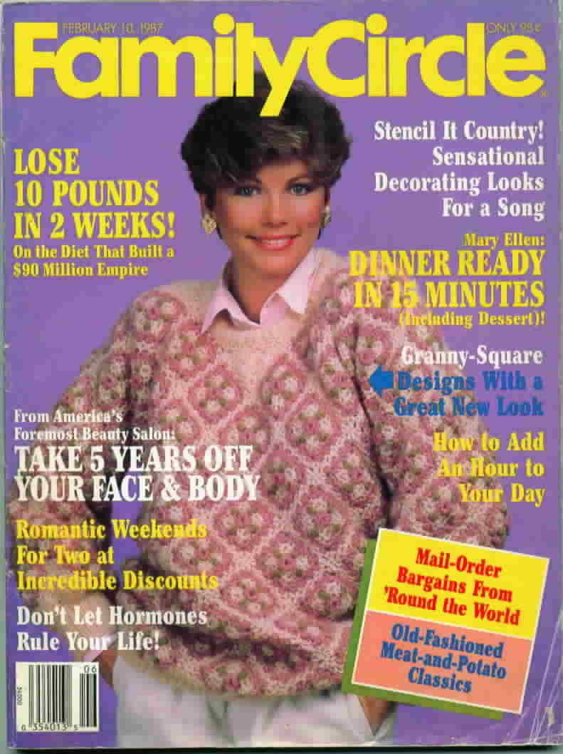 Vintage family circle magazine feb 1987