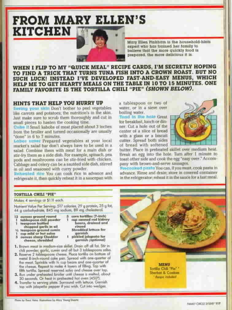 Vintage Family Circle Magazine February 10, 1987