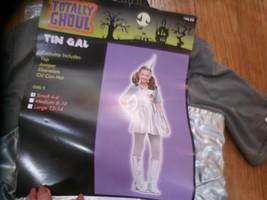Girls Halloween Wizard Of Oz Tin Girl costume NEW S 4-6 top jumper sleeves,hat - $21.78