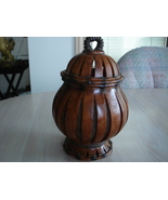 Decorative Wood & Rope Look Covered Jar - $2.99