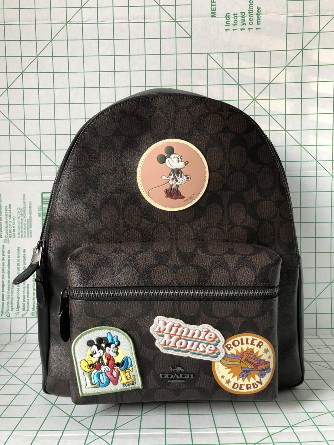 38224e5b599 57. 57. Previous. NWT WOMEN S COACH X DISNEY (F29355) MINNIE MOUSE  SIGNATURE LEATHER BACKPACK BAG