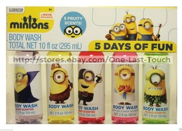 MINIONS 5pc Body Wash DAYS OF FUN Gift Set HOLIDAY Fruity Scents TRAVEL ... - $8.02