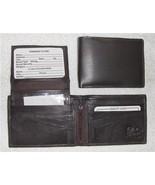 Genuine Leather Men's Bi-Fold Wallet- #533 BROWN - $18.00
