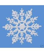 "10 pieces WHITE 4""Glittered Plastic Snowflake Ornaments - $7.00"