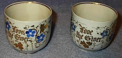 Love the Giver Painted Decorative Cups