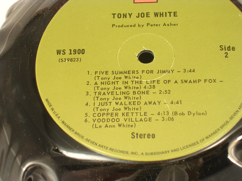 Tony Joe White Lp Record Bowl Produced by Peter Asher Warner Bros 7 Arts Studios