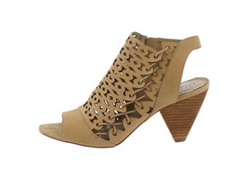 Vince Camuto Nubuck Cut-Out Heeled Sandals-Emberla Goldie 7.5M NEW A347371 - $110.86