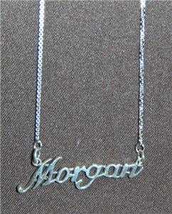 Sterling Silver Name Necklace - Name Plate - MORGAN