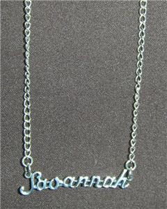 Sterling Silver Name Necklace - Name Plate - SAVANNAH