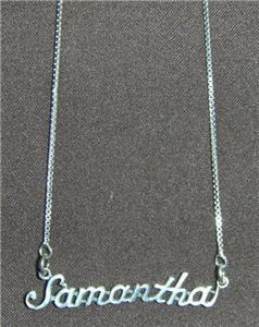 Sterling Silver Name Necklace - Name Plate - SAMANTHA