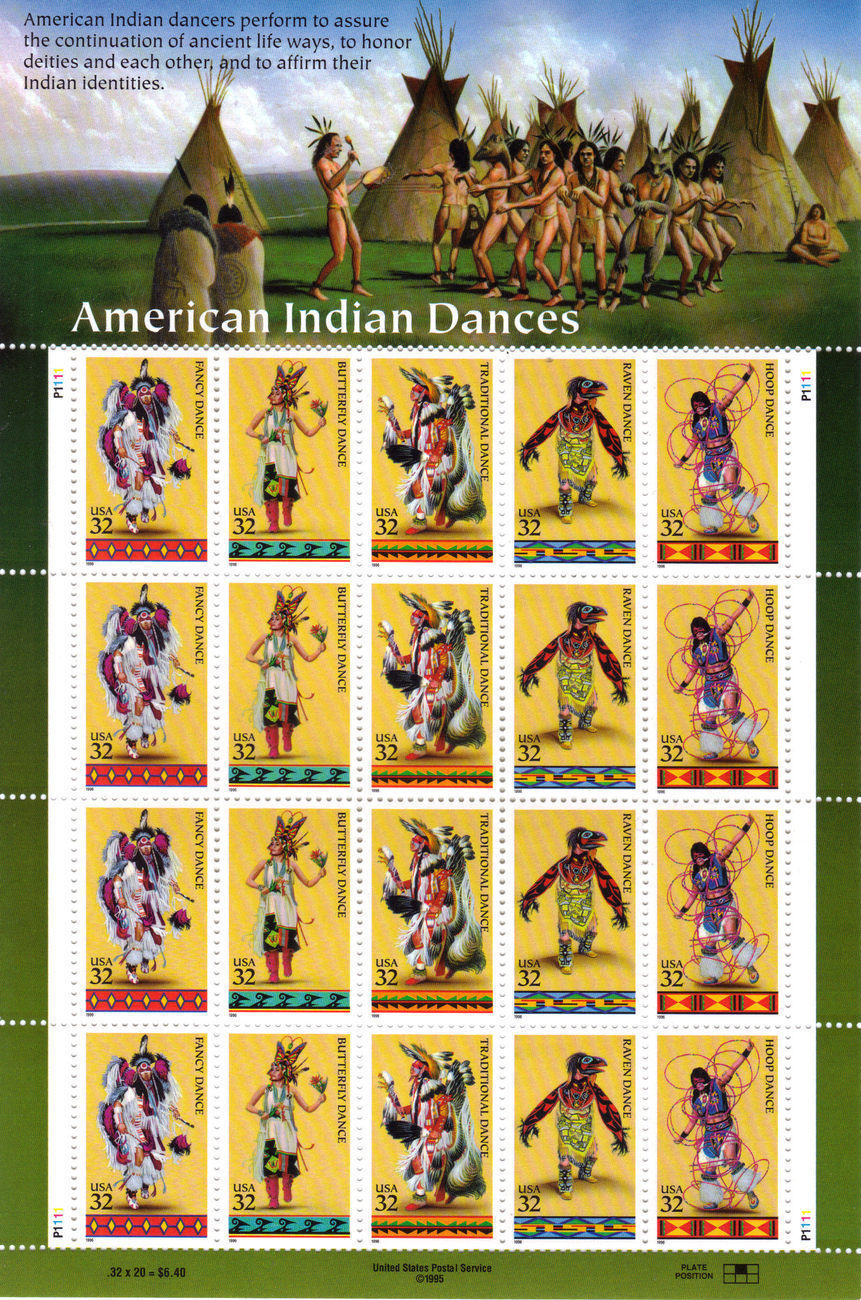 Stamps indian dances