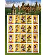 20 AMERICAN INDIAN DANCES - USPS, 0.32, MINT ST... - $12.95