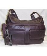 Genuine Leather Shoulder Bag, Purse, Handbag -3001-WINE - $32.00