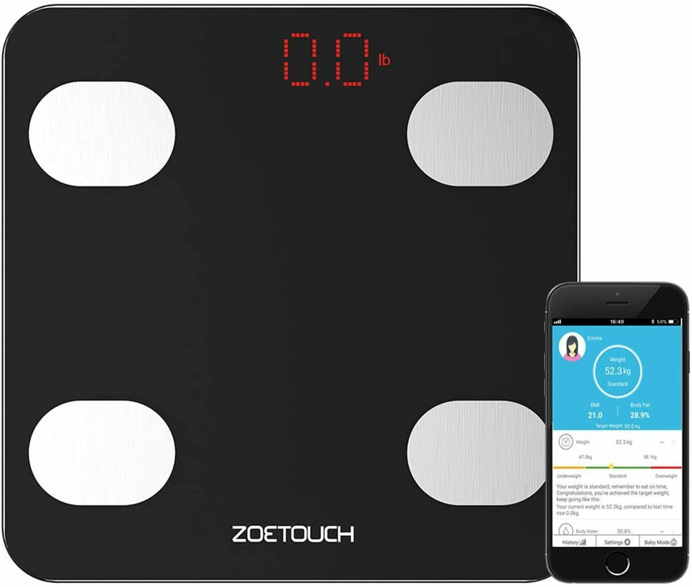 Smart Scale, ZOETOUCH Digital Bathroom Scales