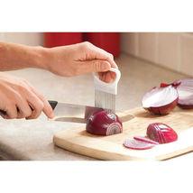 1PC Stainless Steel Slicer Holder onion Tomato Vegetable Cutter Kitchen ... - €7,37 EUR