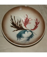 Bowl Ceramic Buff Leafy Tan Orange Green Brown ... - $15.00