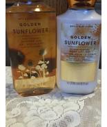 Bath & Body Works Golden Sunflower Shower Gel Body Lotion Shea Butter Vi... - $23.66
