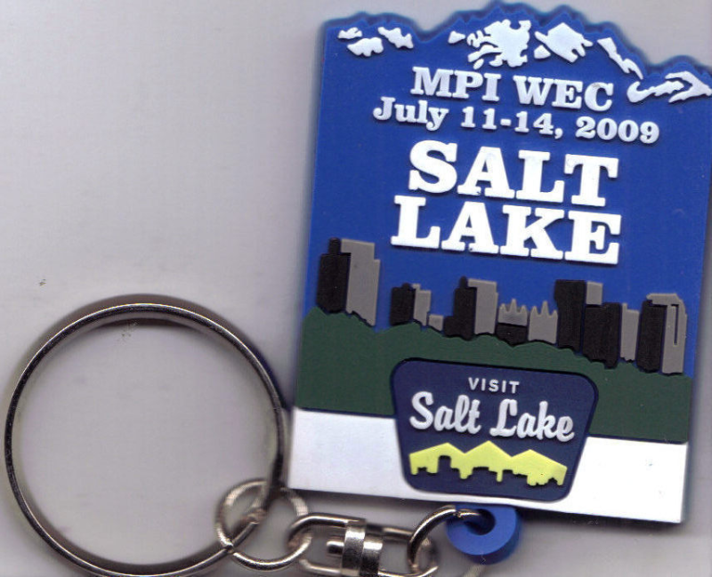 2009 MPI WEC SALT LAKE CITY Commemorative Keychain