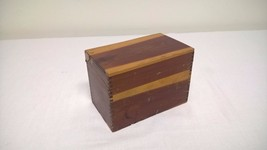 Cedar Index File Recipe Box Dovetail Joints - $11.76