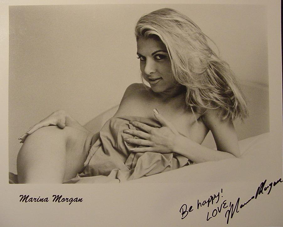 Marina Morgan hand signed sexy hot autographed photo