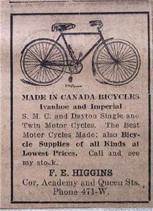 1917 Ivanhoe and Imperial Bicycles and Motor Cycles Ad