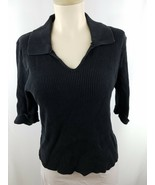 Xhilaration Brand Black V Neck Sweater with Collar and 3/4 Sleeves Kids ... - $6.99