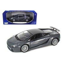 Lamborghini Gallardo Superleggera Grey 1/18 Diecast Model Car by Motormax - $54.94