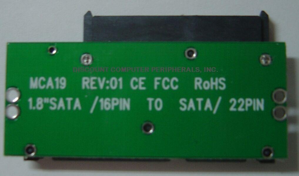 1.8in Style mSATA to 7+15 Normal SATA Adapter Converter - US Seller