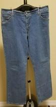 Levis Relaxed Bootcut 550 Stretch Blue Denim Jeans 16 Medium 16M Misses - $20.29