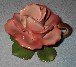 Made in Italy Capodimonte Flowering Rose Candle Holder