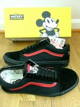 Vans X Disney Womens Old Skool Mickey Mouse Club Skate shoes Black Red S... - $89.09